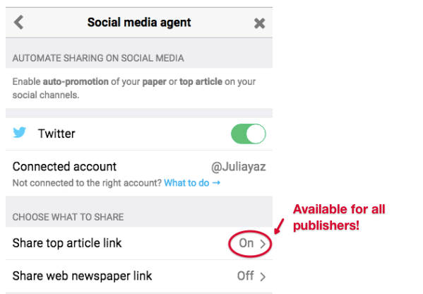 Share Articles With A Calltoaction Overlay  Paperli Support Calltoaction Overlay On Free Papers